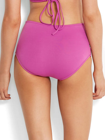 Seafolly High Waisted Quilted Bottom Berry