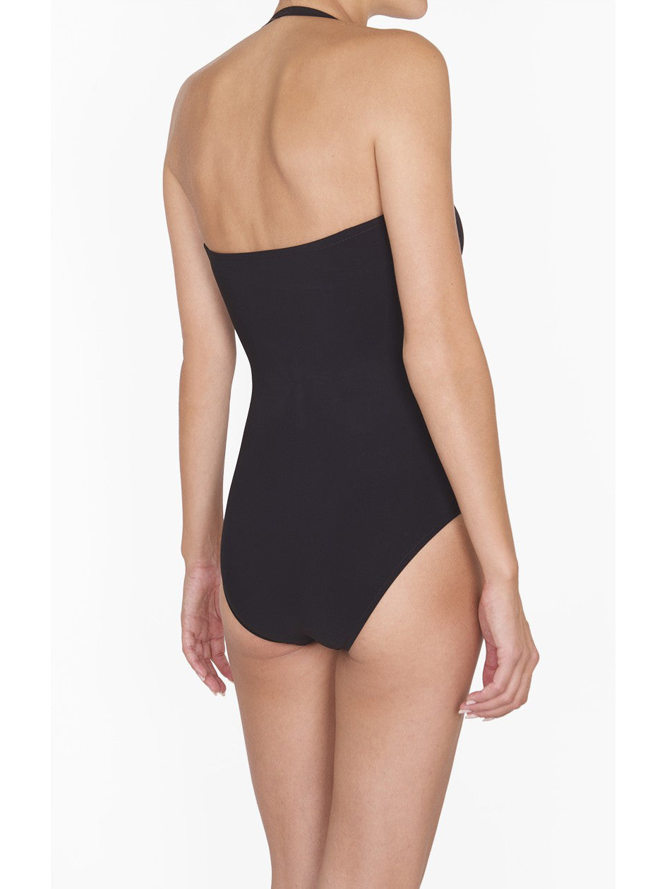 Shan One Piece Bandeau Black