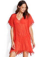 Seafolly Amnesia Kaftan Well Red