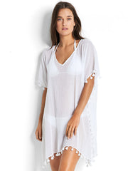 Seafolly Amnesia Kaftan White, view 1, click to see full size