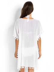 Seafolly Amnesia Kaftan White, view 2, click to see full size