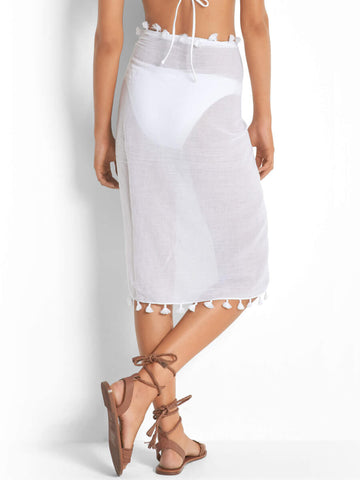 Seafolly Cotton Gauze Sarong White