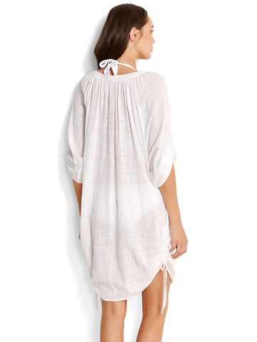 Seafolly Textured Gauze Cover Up White