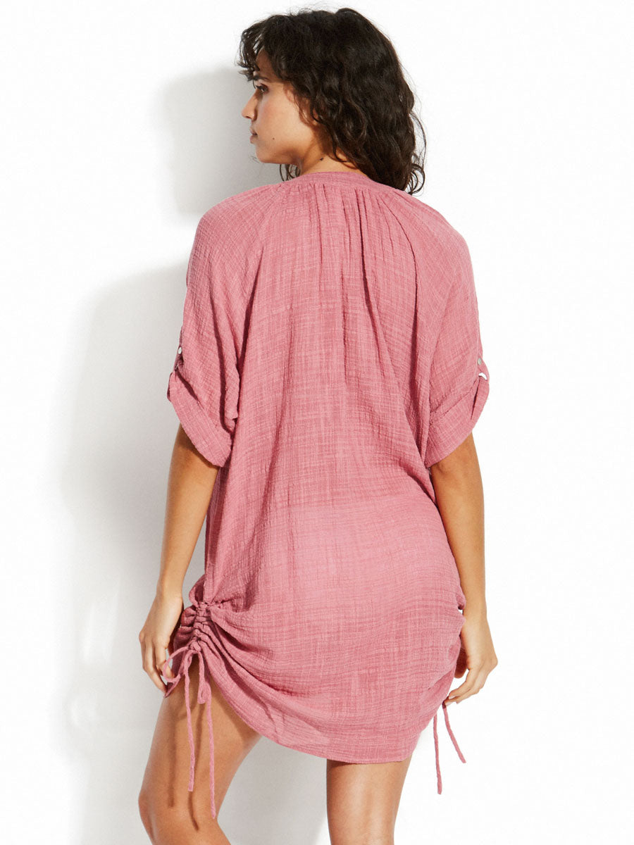 Seafolly Textured Gauze Cover Up Wild Rose