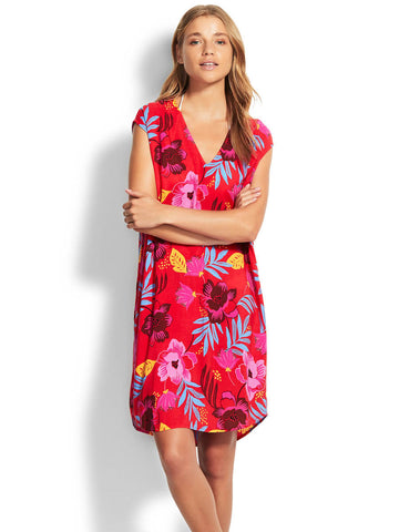Seafolly On Vacation Coverup Chilli