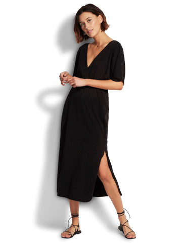 Seafolly New Haven Midi Dress In Black