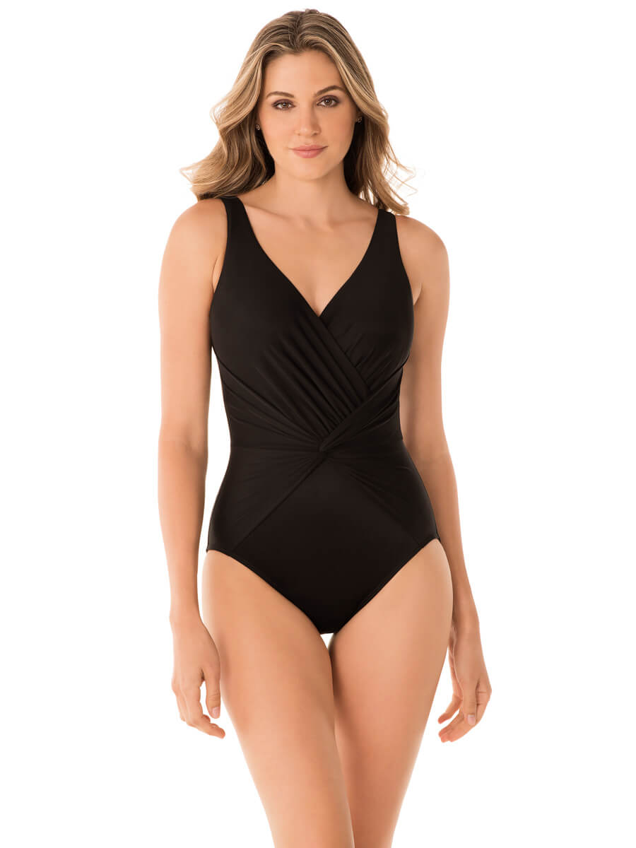 Miraclesuit Rock Solid Twister One Piece Black
