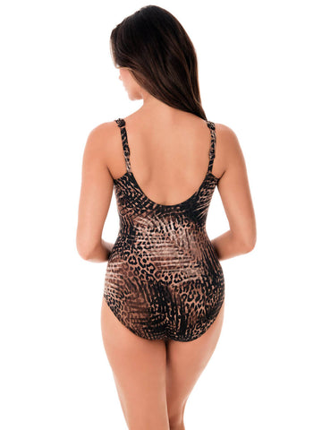 Miraclesuit Tigris Siren One Piece Savannah Brown