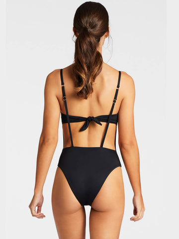 Vitamin A Edie Bodysuit Cali Cut Eco Black