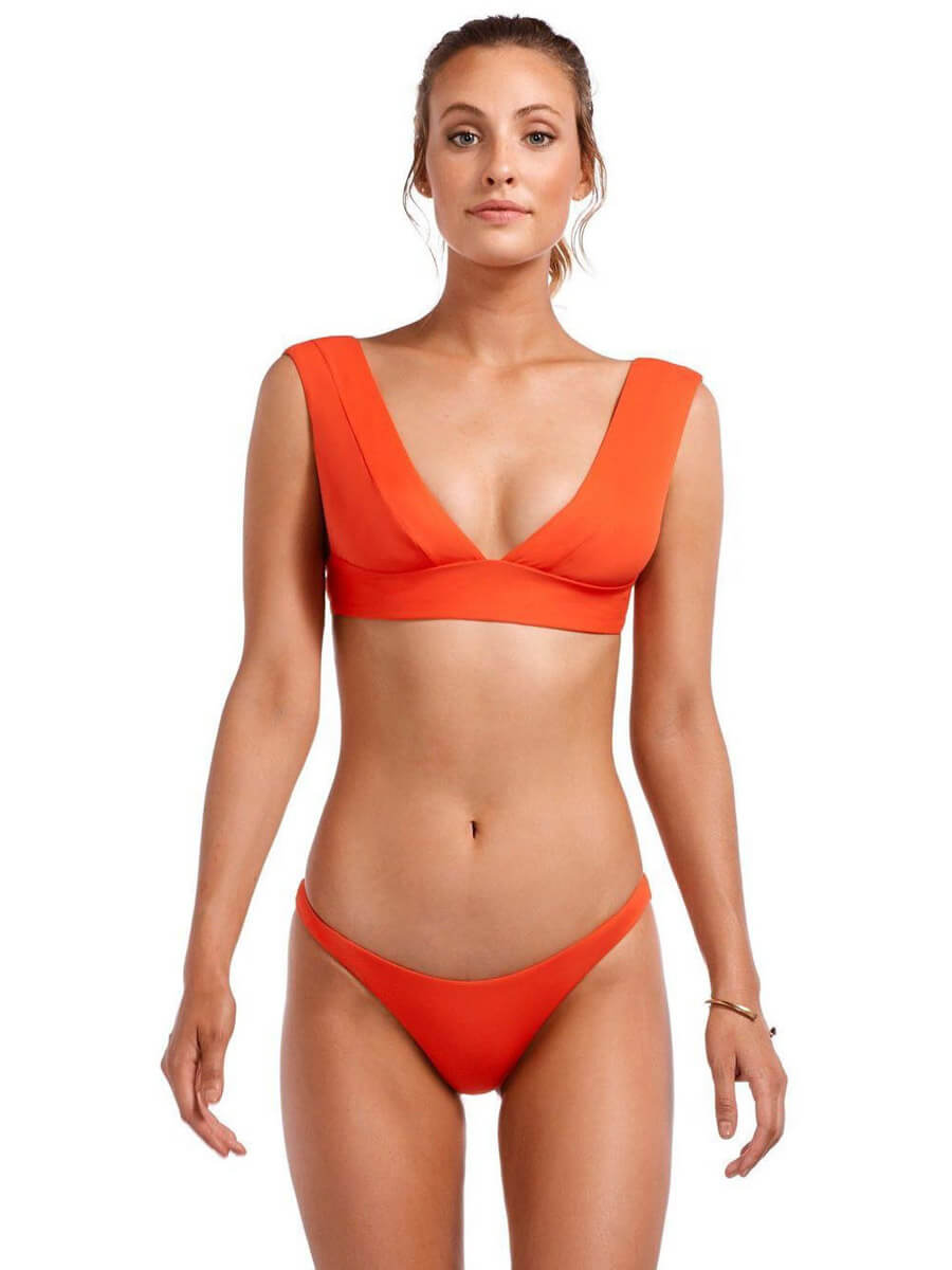 Vitamin A Samba Ruched Brazilian Eco Papavero