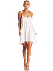 Vitamin A Paloma Knit Mini Dress White Cotton