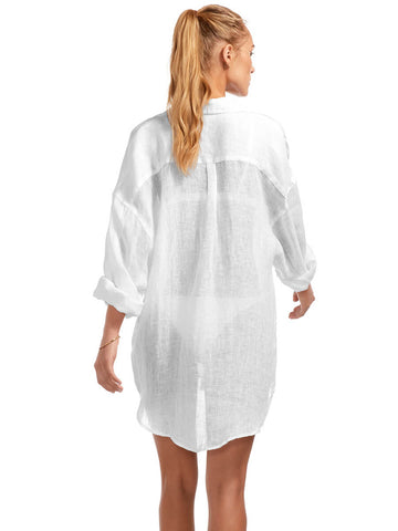 Vitamin A Playa Shirt Dress White