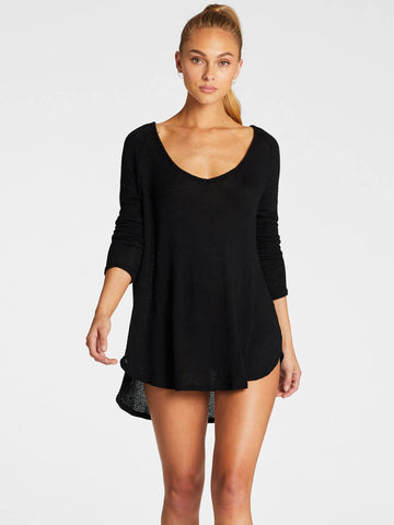 Vitamin A Drifter Beach Sweater Black