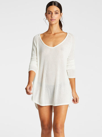 Vitamin A Drifter Beach Sweater Cream