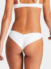 Vitamin A Samba Ruched Brazilian Eco White