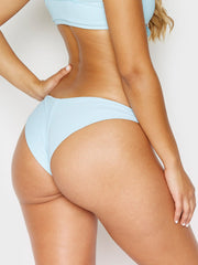 Frankies Bikinis Greer Ribbed Cheeky Pant Powder
