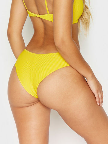 Frankies Bikinis Alana Cheeky Bottom Amber