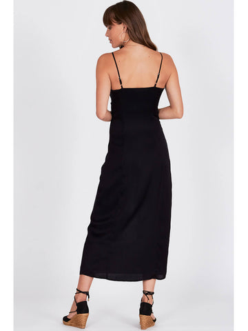 Amuse Society Island Fever Dress Black