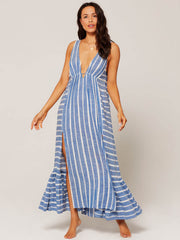 L*Space Allison Coverup Poolside Stripe, view 1, click to see full size