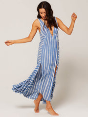 L*Space Allison Coverup Poolside Stripe, view 3, click to see full size