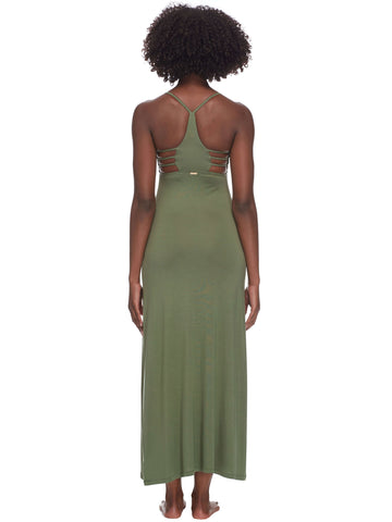 Body Glove Nerida Strappy Back Long Dress Cactus
