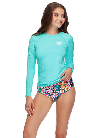 Body Glove Long Sleeve Rash Guard Sea Mist