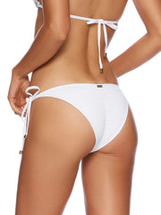 Beach Bunny Wedding Belle Tie Side Bottom White, view 2, click to see full size