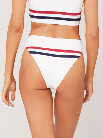 L*Space Wilson High Waist Bottom White/Strawberry