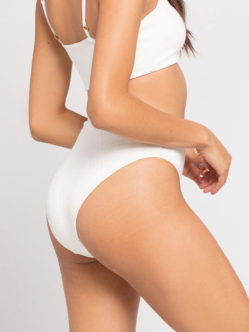L*Space Crossroads Frenchi High Waist Bottom Cream