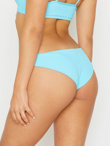 Frankies Bikinis Greer Ribbed Cheeky Bottom Oasis
