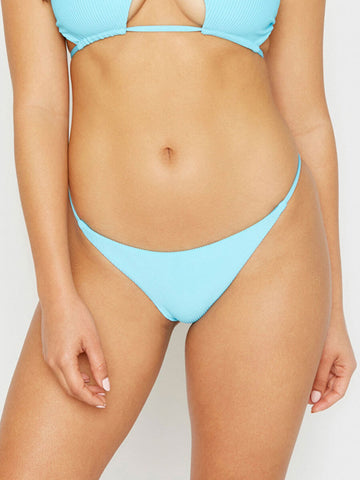 Frankies Bikinis Willa Ribbed Skimpy Bottom Oasis