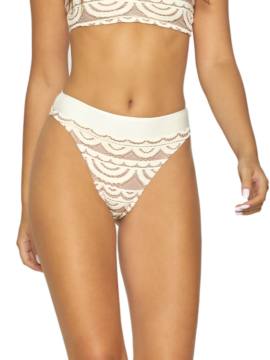 PQ Swim High Waist Full Bottom Ivory