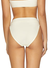 PQ Swim High Waist Full Bottom Ivory, view 2, click to see full size
