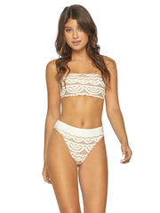 PQ Swim High Waist Full Bottom Ivory, view 3, click to see full size