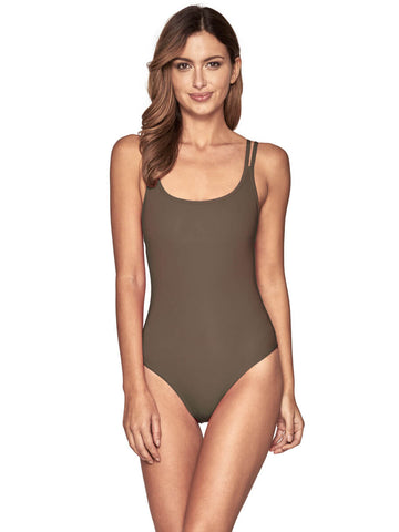 Jets One Piece Double Strap Tank Stone