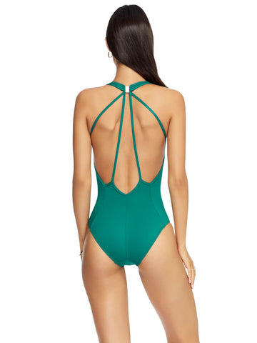 Jets One Piece Plunge Halter Amazon