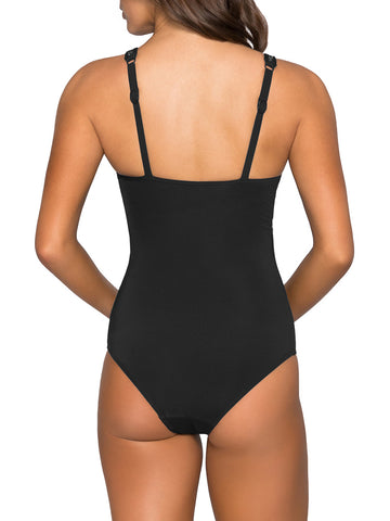 Jets One Piece V Neck Black