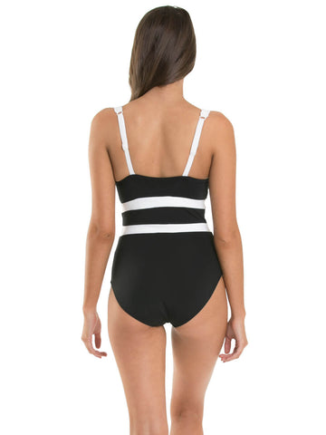 Jets One Piece V Neck DD Black/White