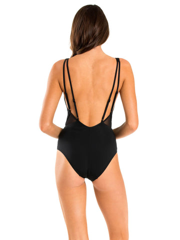 Jets Aspire One Piece Plunge Black