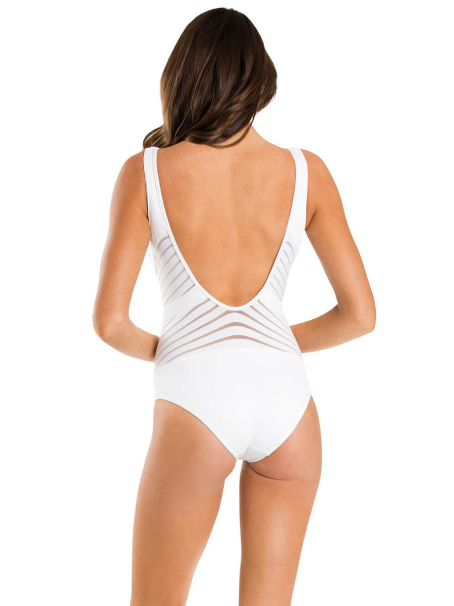 JETS Parallels One Piece Plunge White