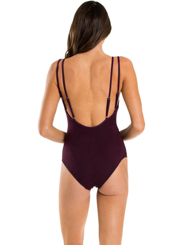 JETS Luscious One Piece Tank Plum