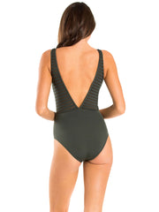 JETS One Piece High Neck Khaki