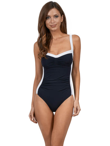 JETS Classique One Piece Dd/E Side Trim Black/White