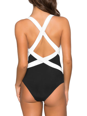 JETS Classique Low Back Infinity One Piece Black/White