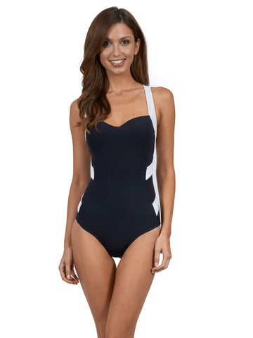 JETS One Piece Low Back Infinity Black/White