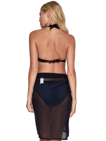 JETS Long Mesh Sarong Black