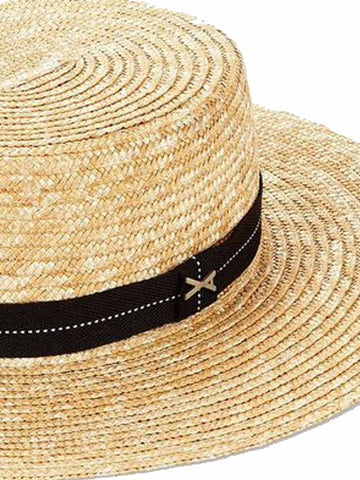 Vitamin A Je T'Aime Boater Hat Black
