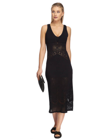 JETS Long Dress Black