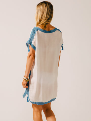 Koy Resort Tulum Tunic Dress French Blue