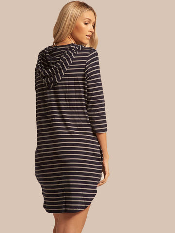 Koy Resort Santa Monica Hooded Dress Navy